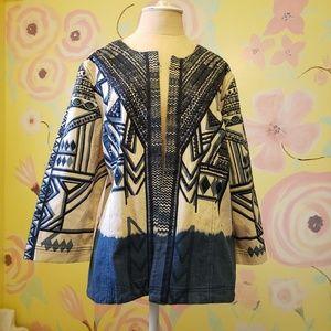 CHICO'S Denim Artist Blue White Lightweight Jacket